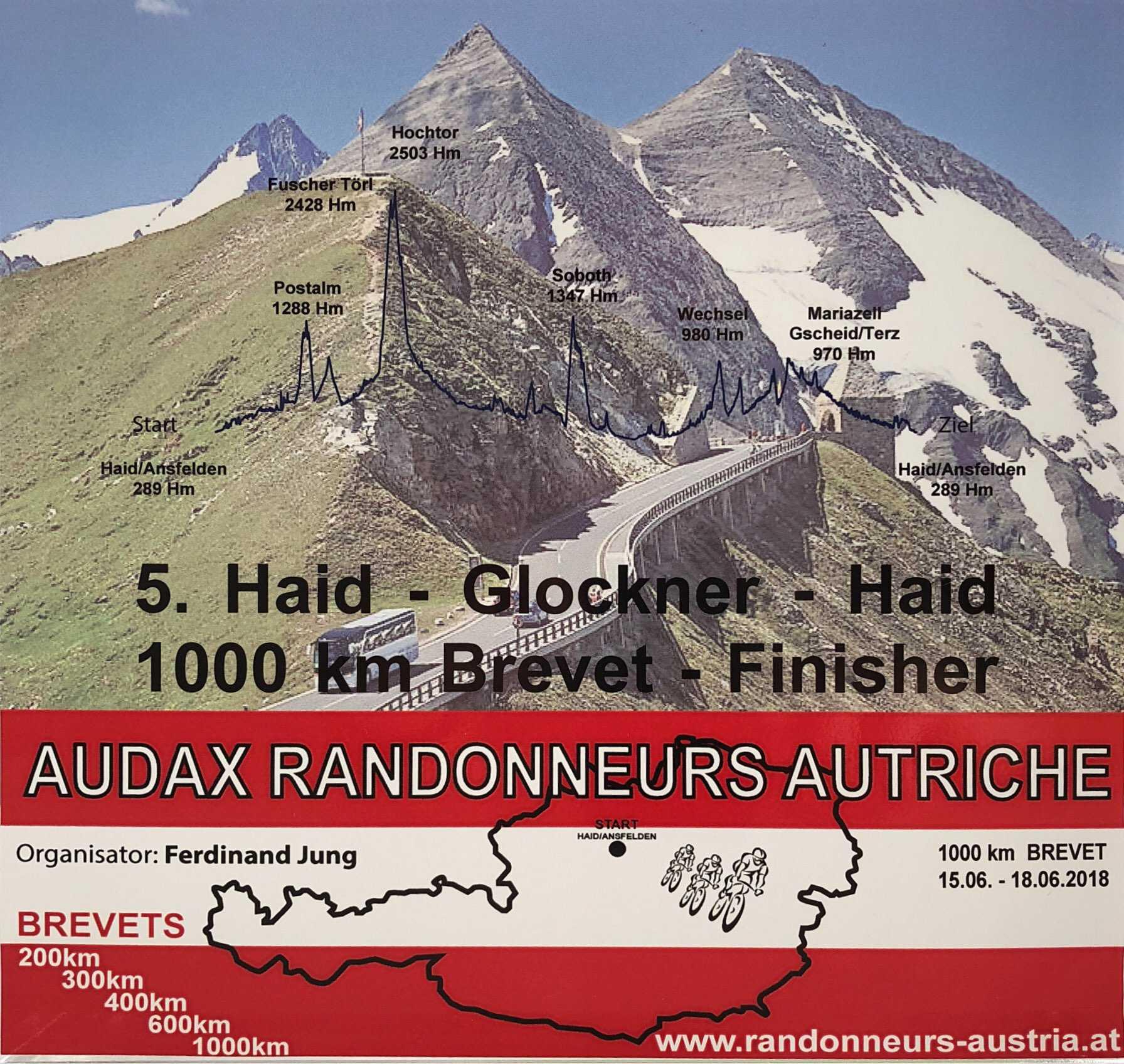5. Haid-Glockner-Haid 1000 km Brevet – Kurz und bündig!