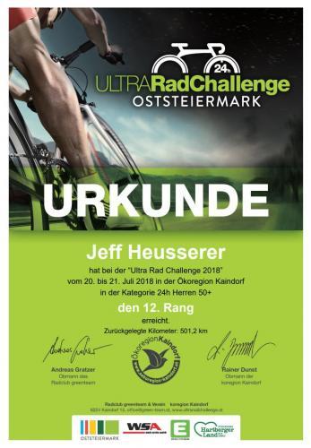 Ultra Rad Challenge 2018 Jeff Urkunde